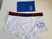 Men's Emporio Armani White/black underwear trunk  Sz  M