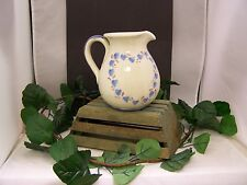 Warm Country Style Pitcher with Hearts signed by artist