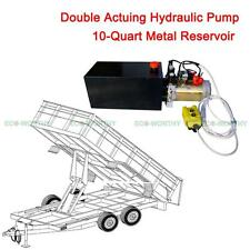 Hydraulic Power Unit Pump 10-Quart Metal Reservoir 12 Volt for Power-Up / Down