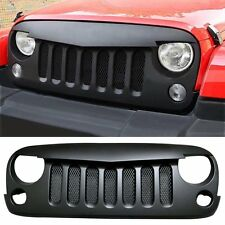 Front Angry Birds Grille Grid Grill ABS Mesh inserts Use For Jeep Wrangler 07-16