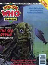 DOCTOR WHO MAGAZINE #192 FREE POSTER, BERNICE SUMMERFIELD, THE SEA DEVILS,