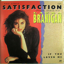 """Laura Branigan - Satisfaction - 12 """" Maxi-Single  - washed - cleaned - L4140"""
