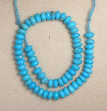 "Sleeping Beauty Turquoise 4.5mm Rondelle Gemstone Beads Blue 6"" Std Jewelry 323"