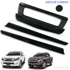 Black Kevlar Rear Tailgat  Accent Bowl Cover Fit Isuzu D-Max Holden 2016 2017