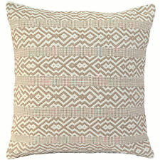 "Handmade Kilim Cushion Cover 16"" 40cm Cotton Indian Persian Moroccan Beige Cream"