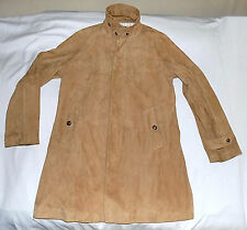 Polo Ralph Lauren-100% Goat Suede 3/4 Length Trench Coat-Large-Camel-Flawless !!