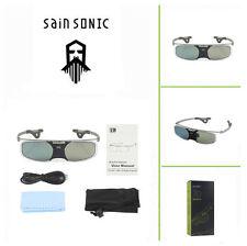 SainSonic 96~144Hz 3D DLP Lunettes Pour Samsung Benq DLP Link Projector & TV
