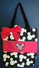 NWT Walt Disney World Parks MICKEY MOUSE Black & Pink Tote Bag Handbag