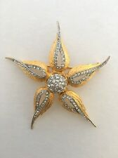 Hattie Carnegie Large Rhinestone Flower Brooch