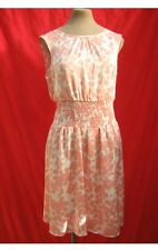 Doll & Frog Pink & White Floral Satin Lightweight Floaty Ditsy Dress S/M 10 12