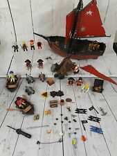 Playmobil Pirate Red Corsair Shooner 7518 Vintage Retired with lots of extras