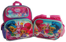 "Shimmer and Shine 12"" Small Backpack & Lunch Bag 2 pc set NEW!! Girls Bag"