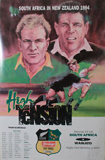 Waikato v South Africa 1994 RUGBY POSTER A2, 60cm x 42cm