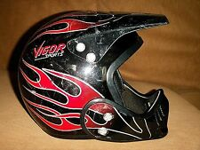 VIGOR SPORTS ZERO G BMX DOWNHILL MOUNTAIN BIKE CYCLING ATV UTV SNELL HELMET M