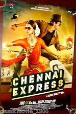 "CHENNAI EXPRESS  DOUBLE SIDED DS POSTER # 1  BOLLYWOOD SHAHRUKH KHAN 27 ""X 39"""