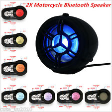 Motorcycle Bluetooth Speaker Audio System FM Radio Stereo Amplifier 7 Colors