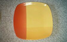 (1)  SQUARE COLOR BLOCKS Yellow Red Orange DINNER PLATE PLATTER 222 Fifth