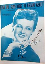 JO STAFFORD Sheet Music GIVE ME SOMETHING TO DREAM ABOUT 40's 50's POP Vocals