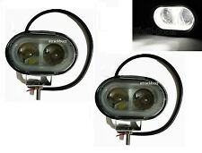 2x 10W 4D LENS OVAL SPOT LED FOG LIGHT FOR ROYAL ENFIELD Classic Desert Storm