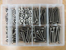 400 PEICE, 3/16 & 1/4 WHITWORTH, STAINLESS STEEL SCREWS & NUTS BOXED ASSORTMENT.
