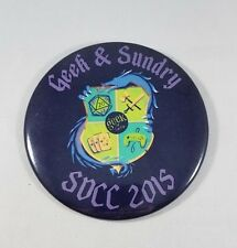 Geek & Sundry Large Pin - San Diego Comic Con SDCC 2015