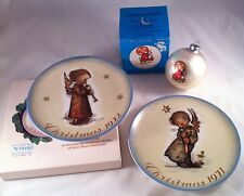 Hummel Heavenly Angel 1971 Christmas Plate 1st Edition 1972 1975 Ornament Set