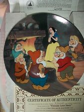 SNOW WHITE AND THE SEVEN DWARFS PLATE A Fireside Love Story KNOWLES BRADFORD