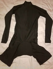 Black Cycling Skinsuit / Aero Race Suit - Long Sleeved - Large with Rear Pocket