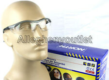 North CLEAR SAFETY SHOOTING GLASSES GREY FRAMES T57005GRY Eye Protection NEW