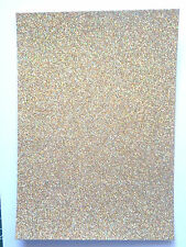 3 x A4 sheets quality Low shed Fixed Glitter card  250 gsm 23 lovely colours
