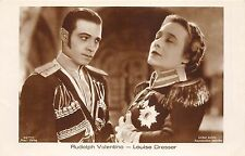 B49027 Louise Dresser and Rudolph Valentino Couple army clothes Ross  movie star
