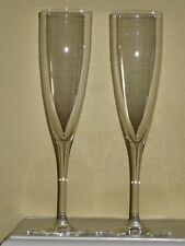 Baccarat France Crystal DOM PERIGNON Champagne Flutes Set of 2 MINT Free Ship