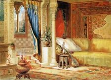 Oil Painting on Canvas repro John Wood Turkish Room Theater Curtain Sketch