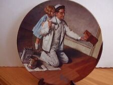 """Norman Rockwell The Painter 8.5"""" Fine China Knowles Numbered Collector Plate"""