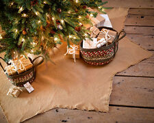 """Burlap Natural 48"""" Christmas Tree Skirt by VHC Brands"""