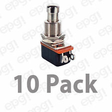 SPST (N/O) MOMENTARY ON METAL BUTTON PUSH BUTTON SWITCH 10A @125VAC#PBS24B2-10PK