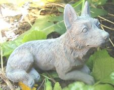 """Latex only small shepherd dog mold plaster concrete casting  mould 4.5""""L x 2""""W"""