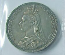 Great Britain 1889 Crown Silver Queen Victoria Very Nice Grade Well Struck