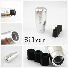 Silver Car Manual Gear Shift Knob Gear Head Shifter Lever Replacement Accessory
