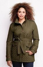 NWT Womens Quilted Insulated PrimaLoft Parka Coat #443843 1X 16W-18W Pine Green