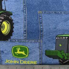 """Blue Jean John Deere Print 42""""W 15""""L Window Curtain Valance Cotton  fabric"""