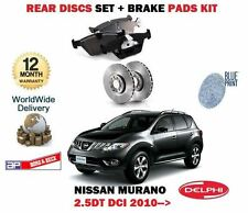 FOR NISSAN MURANO 2.5DT DCI Z51 YD25 2010-  NEW REAR BRAKE DISC SET + PAD KIT