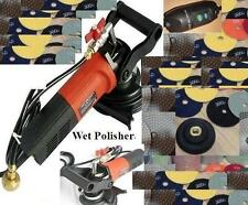 "5"" Variable Speed Concrete Cement Wet Polisher Grinder & Diamond Pad Set"