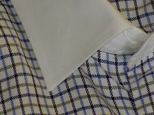 Alfred Dunhill 100% Cotton Blue Multi-Color Windowpane Luxury Dress Shirt 17