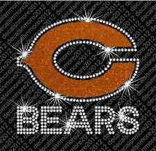 NFL - Chicago Bears - Bling - Iron-on Rhinestone Transfer Decal