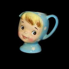 Vintage NAPCO CREAM PITCHER Miss Cutie Pie Creamer Girl - Blue