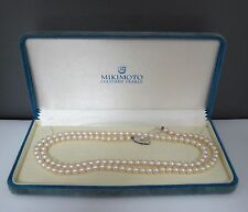 Mikimoto Cultured Pearls Silver Necklace
