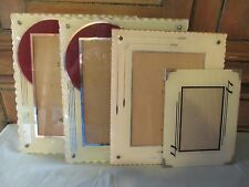 Lot 4 vintage reverse paint glass art deco frames