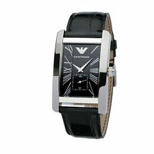 Emporio Armani Black / Silver Quartz Analog Men's Watch AR0143