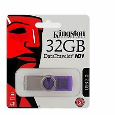 Brand NEW KINGSTON DATATRAVELER DT 101 g2 32gb USB 2.0 Flash Memory Stick